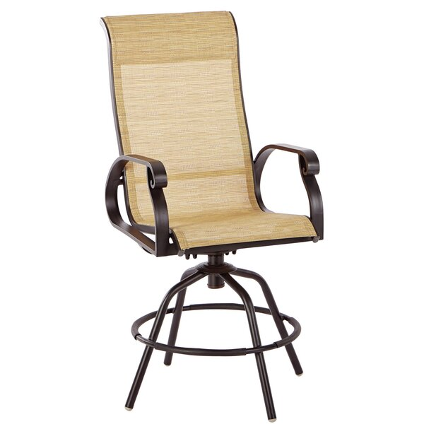 Whipton Swivel Patio Dining Chair (Set of 2) by Charlton Home