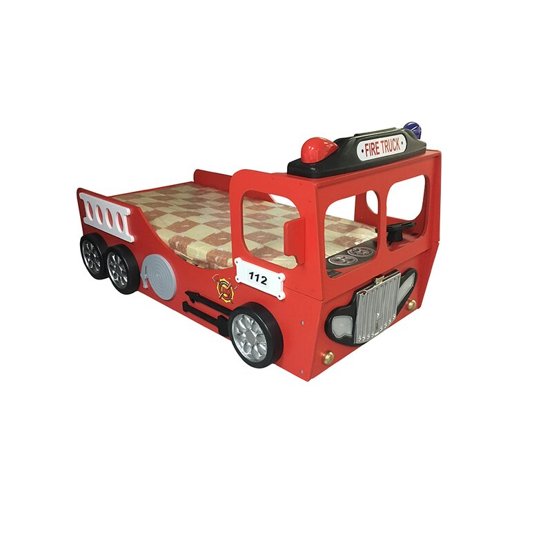 Plastiko Fire Truck Toddler Car Bed Reviews Wayfair
