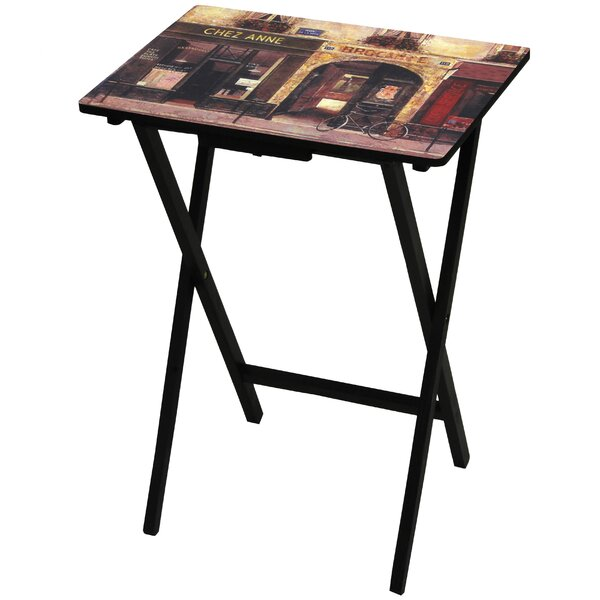 Parisian Cafe TV Tray by Oriental Furniture