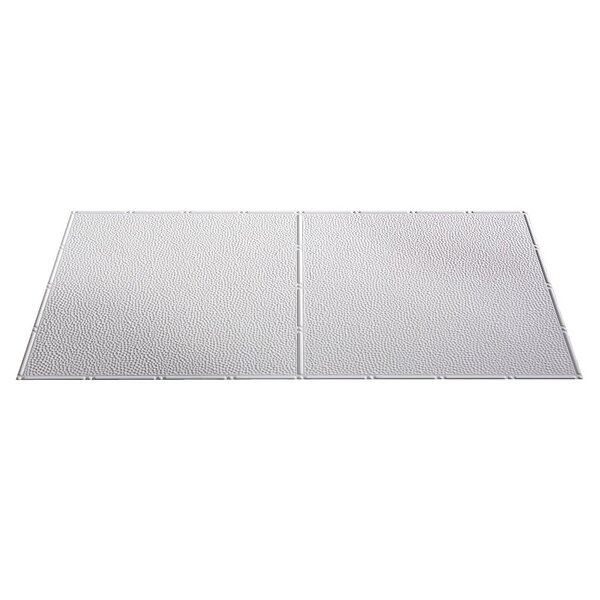 Border Fill 2 Ft X 4 Ft Glue Up Ceiling Tile In Matte White By Fasade.