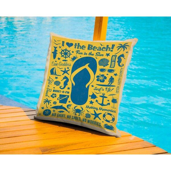 Cc Flip Flip Pattern Print Outdoor Throw Pillow by Americanflat