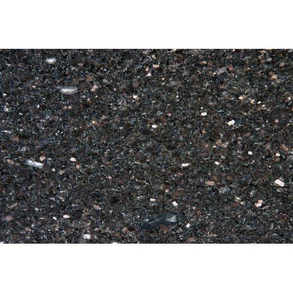 18 x 31 Polished Granite Tile in Black Galaxy by MSI