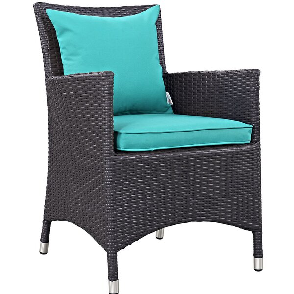 Khadar Patio Dining Chair with Cushion by Latitude Run