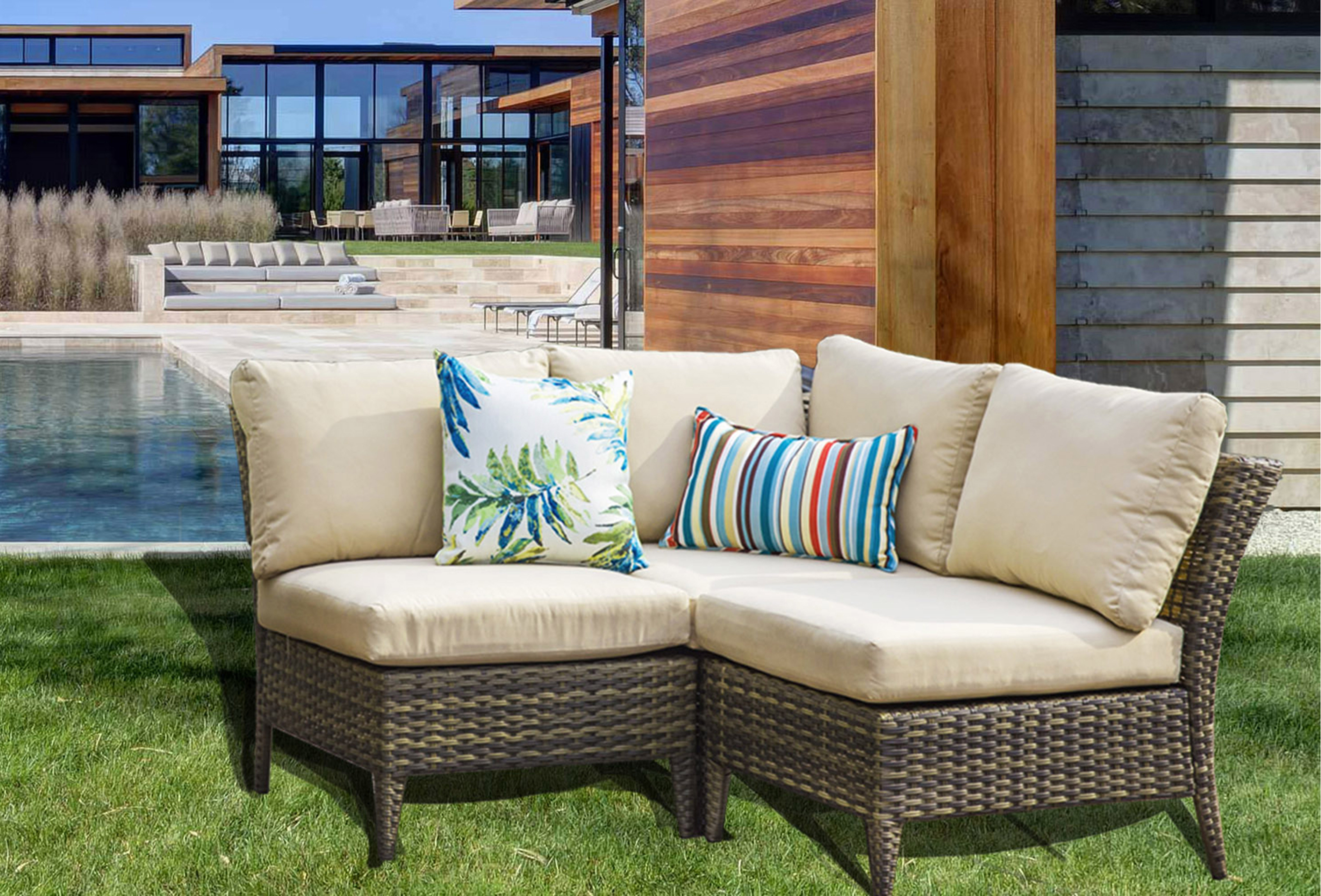 Piece Rattan Sectional Seating