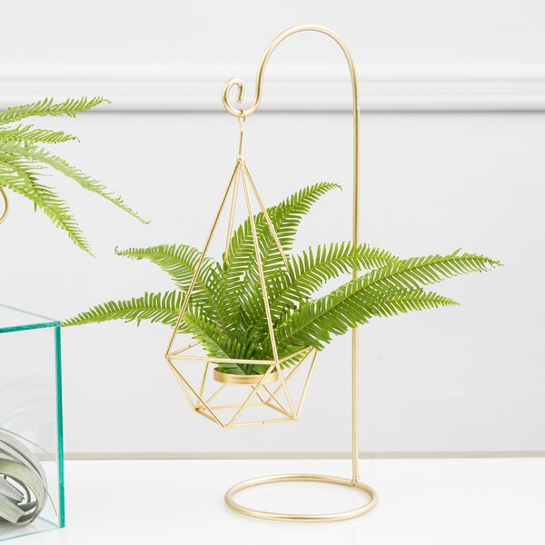 Large Geometric Hanging Holder Lantern (Set of 2) by Ivy Bronx