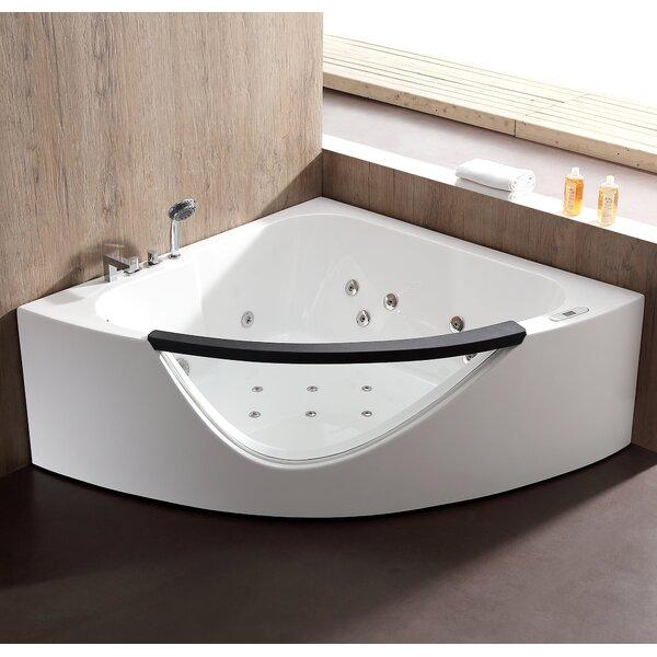 60.63 x 60.63 Corner Whirlpool Bathtub by EAGO
