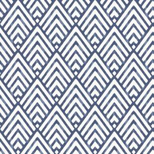 Nu 18 X 205 Arrowhead Deep Blue Wallpaper Roll