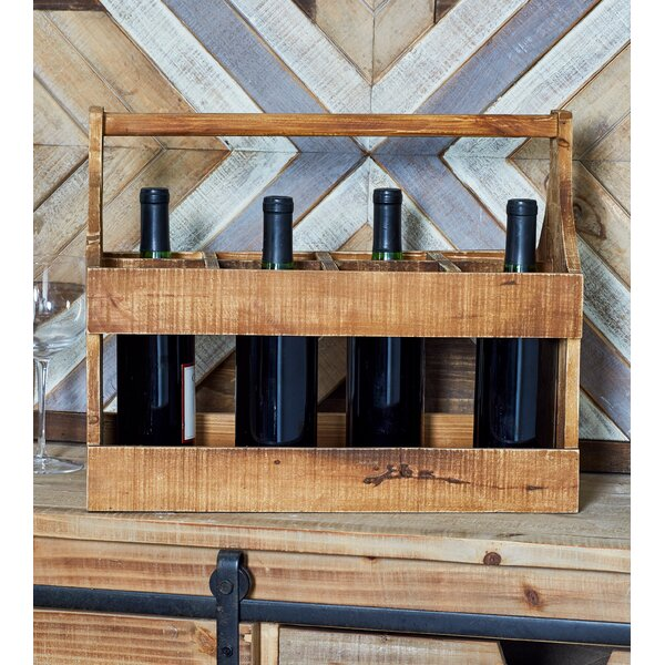 Rustic 8-Bottle Tabletop Wine Holder by Cole & Grey