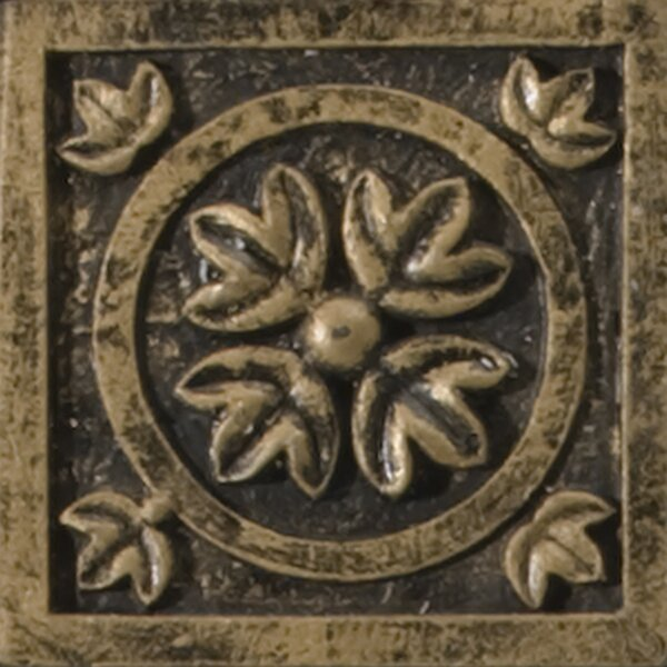 Camelot 2 x 2 Metal Guinevere Dot Decorative Accent Tile in Bronze by Emser Tile