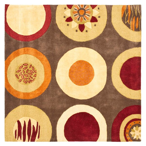 Chiara Brown / Light Dark Multi Contemporary Rug by Latitude Run
