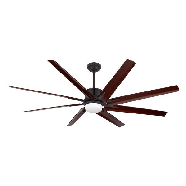 72 Shayna 8 Blade LED Ceiling Fan by Brayden Studi
