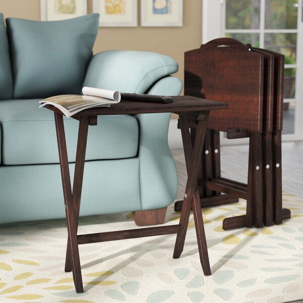 Alice 5 Piece TV Tray Table Set by Andover Mills