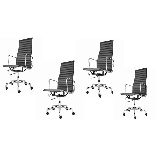 Ermanno High Back Conference Chair (Set of 4)