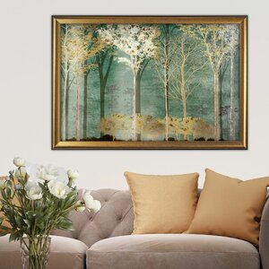 Into the Woods' by Conrad Knutsen Framed Painting on Canvas by Wexford Home