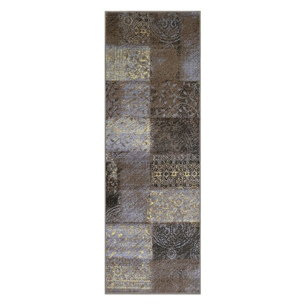 Dunsmuir Printed Non-Slip Gray Area Rug by World Menagerie