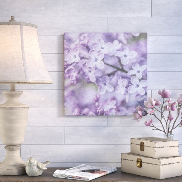 Petales Violets Graphic Art on Wrapped Canvas by August Grove
