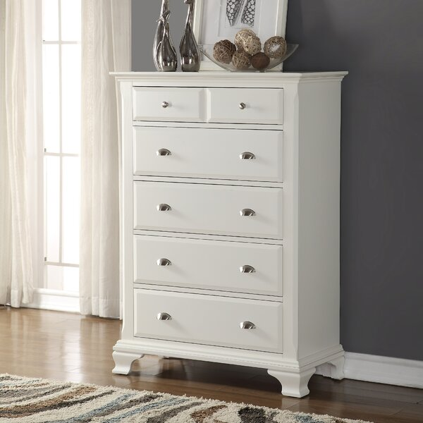 Shenk 5 Drawer Chest by Winston Porter
