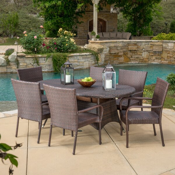 Barney 7 Piece Dining Set by Three Posts