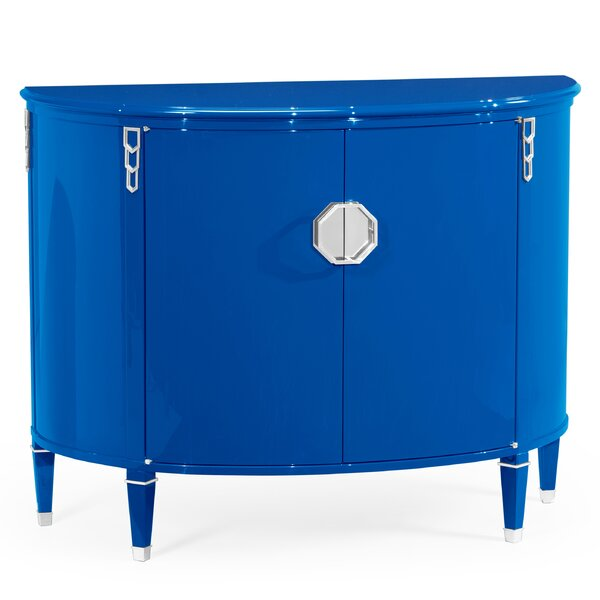 Demilune Accent Cabinet by Jonathan Charles Fine Furniture
