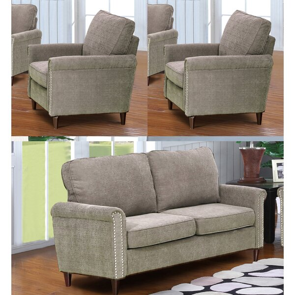 Looking for Hayton Fabric Modern 3 Piece Living Room Set By Charlton Home Great Reviews