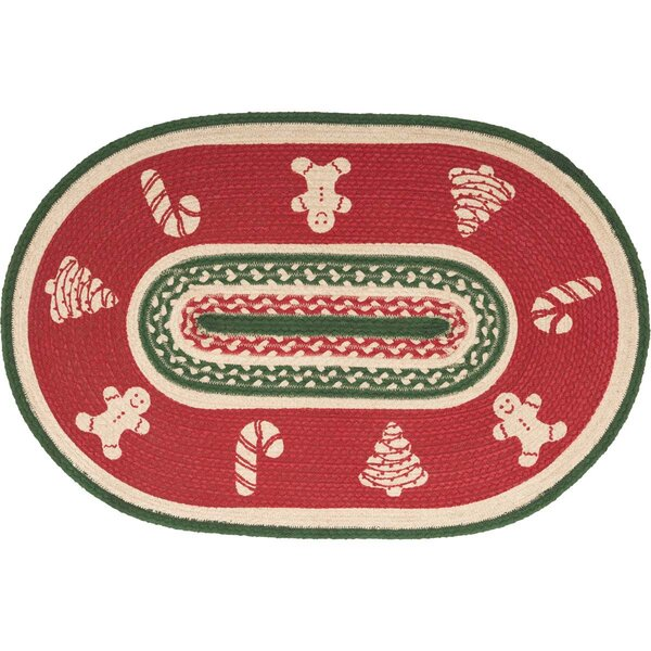 Anding Christmas Cookies Half Circle Cotton Red Ar