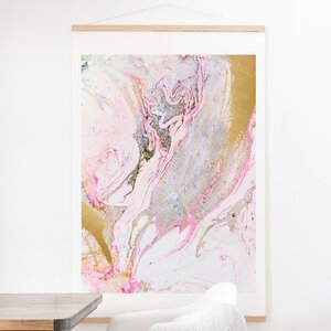 'Winter Marble' Graphic Art Print by Willa Arlo Interiors