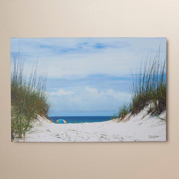 Ocean Path Photo Graphic Print on Canvas by Beachc