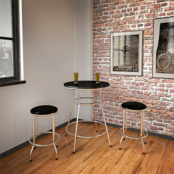 Depew Round 3 Piece Pub Table Set by Ebern Designs