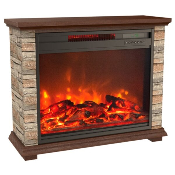 Delong Stone Electric Fireplace by Millwood Pines