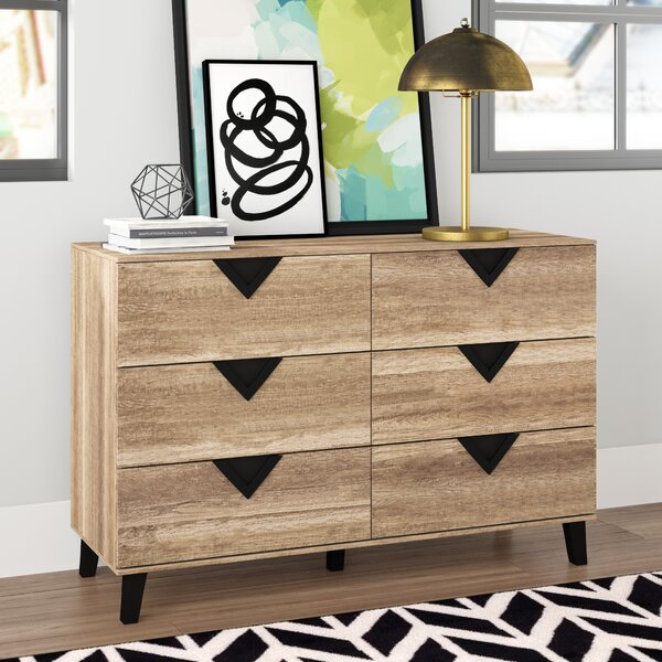 Elio 6 Drawer Double Dresser by Wrought Studio