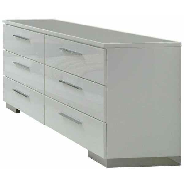 Kishor Wooden 6 Drawer Double Dresser by Ebern Designs