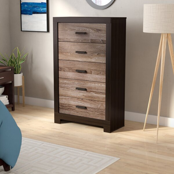 Brockett 5 Drawer Standard Dresser/Chest by Latitude Run