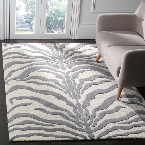 Roloff Ivory & Dark Gray Area Rug by Mercer41
