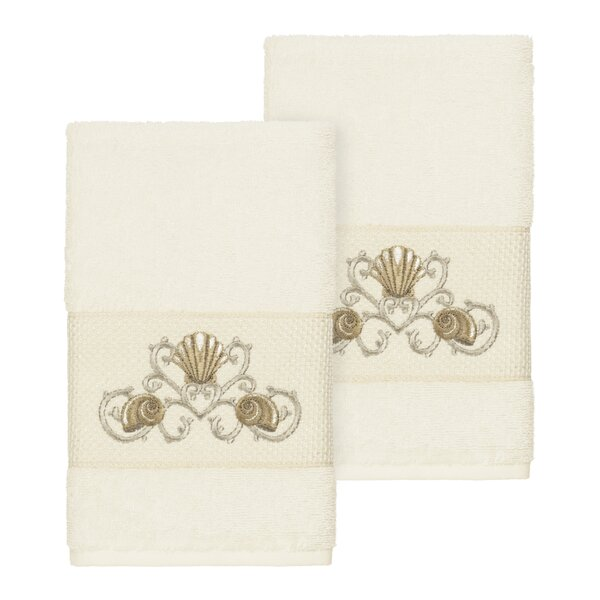 Folmar Embellished Turkish Cotton Hand Towel (Set of 2) by Highland Dunes