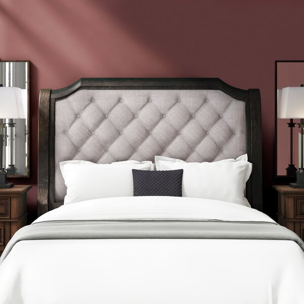 Amoret Upholstered Sleigh Headboard by Greyleigh