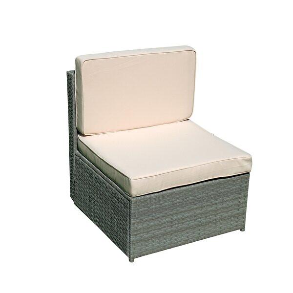 Vernardo Wicker Patio Chair with Cushions by Wrought Studio