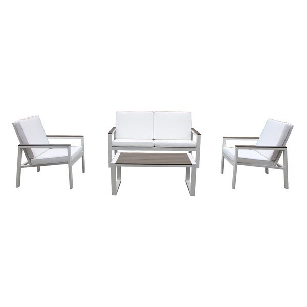 Chamlee 4 Piece Sofa Set with Cushions by Orren Ellis