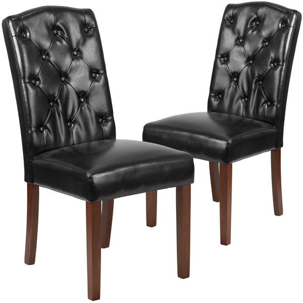 Orland Tufted Parsons Dining Chair (Set of 2) by Charlton Home