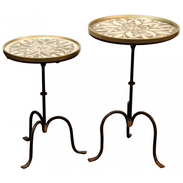 Talia 2 Piece Nesting Tables by One Allium Way