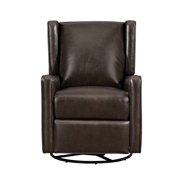 Hendersonville Handle Manual Glider Swivel Recliner by Alcott Hill