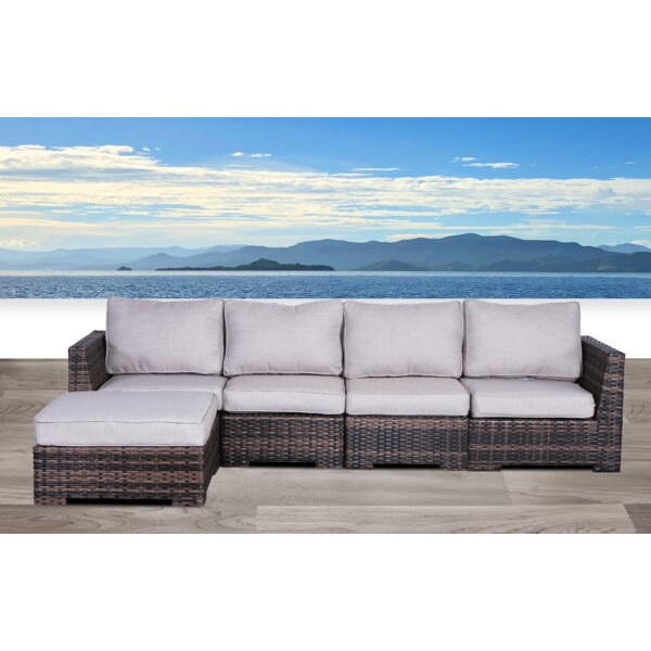 Letona Resort Patio Sectional with Cushions by Sol 72 Outdoor Sol 72 Outdoor