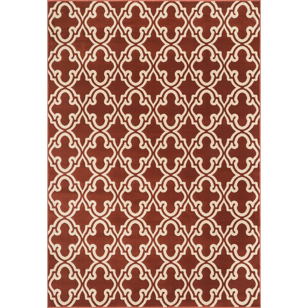 Dann Red Area Rug by Wrought Studio
