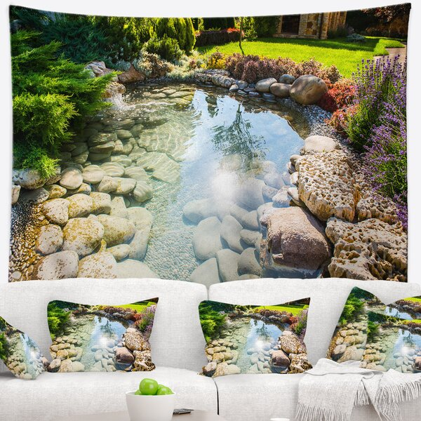 Stream in Rocky Landscape Tapestry and Wall Hanging by East Urban Home