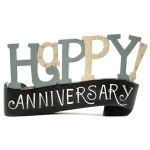 Happy Anniversary Banner Letter Block