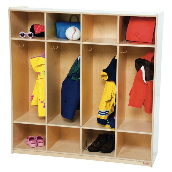 3 Tier 4 Wide Coat Locker by Wood Designs