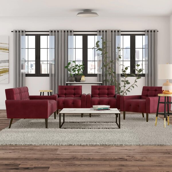 Perry 3 Piece Living Room Set by Zipcode Design