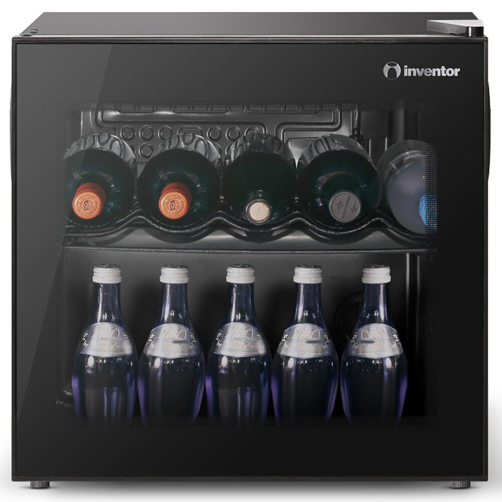 Inventor Vino Cooler 43L with Glass Door 10 Bottle Single Zo