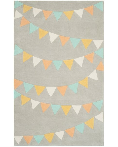 Party Time Hand-Loomed Gray Area Rug by Martha Stewart Rugs