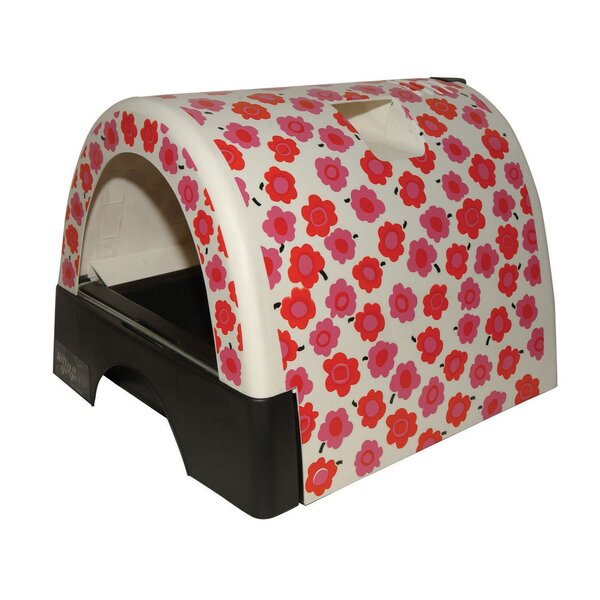 Designer Cat Litter Box with Flower Cover by Kittyagogo