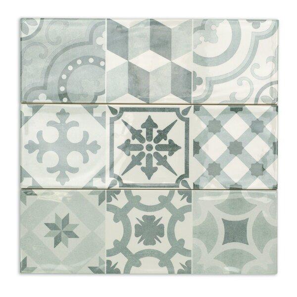 Pier 4 x 12 Ceramic Subway Tile in Cold Deco by Splashback Tile